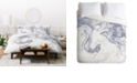 Deny Designs Holli Zollinger French Linen Marble Twin Duvet Set