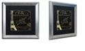 "Trademark Global Color Bakery 'La Cuisine Vi' Matted Framed Art, 16"" x 16"""