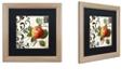 """Trademark Global Color Bakery 'Les Fruits Jardin Iv' Matted Framed Art, 16"""" x 16"""""""