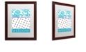 "Trademark Global Color Bakery 'Teal Dots' Matted Framed Art, 16"" x 20"""
