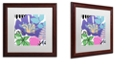 """Trademark Global Color Bakery 'French Poodle Ii' Matted Framed Art, 16"""" x 16"""""""