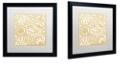 "Trademark Global Color Bakery 'Dulce Ii' Matted Framed Art, 16"" x 16"""
