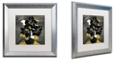 "Trademark Global Color Bakery 'Georgette Ii' Matted Framed Art, 16"" x 16"""