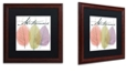"Trademark Global Color Bakery 'Seasons Ii' Matted Framed Art, 16"" x 16"""