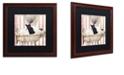 "Trademark Global Color Bakery 'Bad Cat Ii' Matted Framed Art, 16"" x 16"""