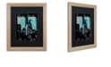 """Trademark Global Color Bakery 'Retro Cities I' Matted Framed Art, 16"""" x 20"""""""