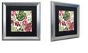 "Trademark Global Color Bakery 'Woodlands Christmas Ii' Matted Framed Art, 16"" x 16"""