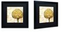 "Trademark Global Color Bakery 'Cafe D?Or Ii' Matted Framed Art, 16"" x 16"""