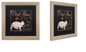 """Trademark Global Color Bakery 'Les Chats I' Matted Framed Art, 16"""" x 16"""""""