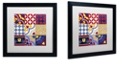 """Trademark Global Color Bakery 'Poulets Iii' Matted Framed Art, 16"""" x 16"""""""