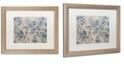 "Trademark Global Color Bakery 'Toile Fabrics I' Matted Framed Art, 16"" x 20"""