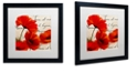 """Trademark Global Color Bakery 'Coquelicots Rouge I' Matted Framed Art, 16"""" x 16"""""""