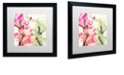 "Trademark Global Color Bakery 'Dragonfly Morning Ii' Matted Framed Art, 16"" x 16"""