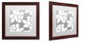 "Trademark Global Color Bakery 'Calyx Floral' Matted Framed Art, 16"" x 16"""