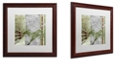 "Trademark Global Color Bakery 'Country Xmas Deer' Matted Framed Art, 16"" x 16"""