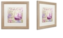 "Trademark Global Color Bakery 'Cocktail Quartet Iv' Matted Framed Art, 16"" x 16"""