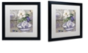 "Trademark Global Color Bakery 'Tableaux I' Matted Framed Art, 16"" x 16"""