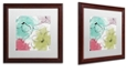 "Trademark Global Color Bakery 'Kasumi Two' Matted Framed Art, 16"" x 16"""