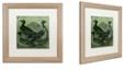 "Trademark Global Color Bakery 'Mallards' Matted Framed Art, 16"" x 16"""