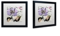 "Trademark Global Color Bakery 'Dogwood Ii' Matted Framed Art, 16"" x 16"""