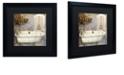 """Trademark Global Color Bakery 'Salle De Bain I' Matted Framed Art, 16"""" x 16"""""""