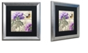 "Trademark Global Color Bakery 'Petals Of Paris Iv' Matted Framed Art, 16"" x 16"""