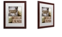 "Trademark Global Color Bakery 'Wild Game' Matted Framed Art, 16"" x 20"""