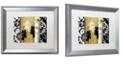 "Trademark Global Color Bakery 'Gardenscape Ii' Matted Framed Art, 16"" x 20"""