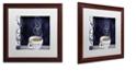"""Trademark Global Color Bakery 'Cafe Blue Iv' Matted Framed Art, 16"""" x 16"""""""