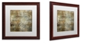 "Trademark Global Color Bakery 'Cities Of The World Ii' Matted Framed Art, 16"" x 16"""