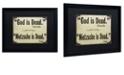 "Trademark Global Color Bakery 'God Is Dead' Matted Framed Art, 16"" x 20"""