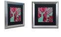 "Trademark Global Color Bakery 'Woodland Winter Iv' Matted Framed Art, 16"" x 16"""