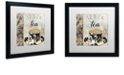 "Trademark Global Color Bakery 'Art Of Tea I' Matted Framed Art, 16"" x 16"""