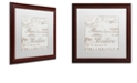 "Trademark Global Color Bakery 'Bon Mots I' Matted Framed Art, 16"" x 16"""