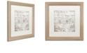 "Trademark Global Color Bakery 'Bon Mots Iv' Matted Framed Art, 16"" x 16"""