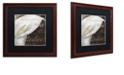 "Trademark Global Color Bakery 'Fleurs Blanc I' Matted Framed Art, 16"" x 16"""
