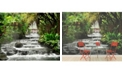 Brewster Home Fashions Tranquil Waterfall Wall Mural