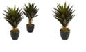 Nearly Natural Agave Artificial Plant, Set of 2