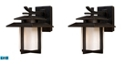 ELK Lighting Kanso 1 Light Outdoor Sconce in Hazelnut Bronze - LED Offering Up To 800 Lumens (60 Watt Equivalent)