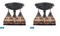 ELK Lighting Mix-N-Match 3-Light Semi Flush in Aged Walnut - LED, 800 Lumens (2400 Lumens Total) with Full Scale Dimming Range