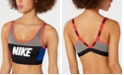 Nike Sport Colorblocked V-Back Medium-Support Sports Bra