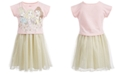 Disney Toddler Girls Layered-Look Princesses Dress