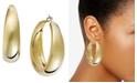 "INC International Concepts I.N.C. Large 2"" Gold-Tone Wide Hoop Earrings"