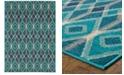 "Oriental Weavers Highlands 6627B Blue/Teal 6'7"" x 9'6"" Area Rug"