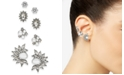 INC International Concepts I.N.C. Silver-Tone 4-Pc. Pearl & Crystal Stud Earrings, Created for Macy's