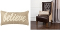 """Rizzy Home 11"""" x 21"""" Typography Down Filled Pillow"""