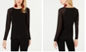 INC International Concepts I.N.C. Long-Illusion-Sleeve Top, Created for Macy's