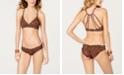 SUNDAZED Catwalk Printed Strappy Bikini Top & Ruffled Bikini Bottoms, Created for Macy's