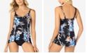 Swim Solutions High-Low Tankini Top & High-Waist Bottoms, Created for Macy's