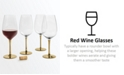 Martha Stewart Collection CLOSEOUT! Gold Stem Red Wine Glasses, Set of 4, Created for Macy's